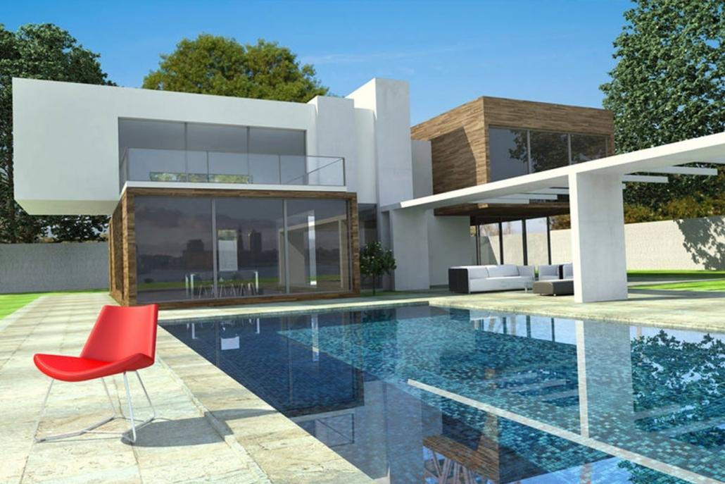 Modernes Luxus-Haus mit Pool